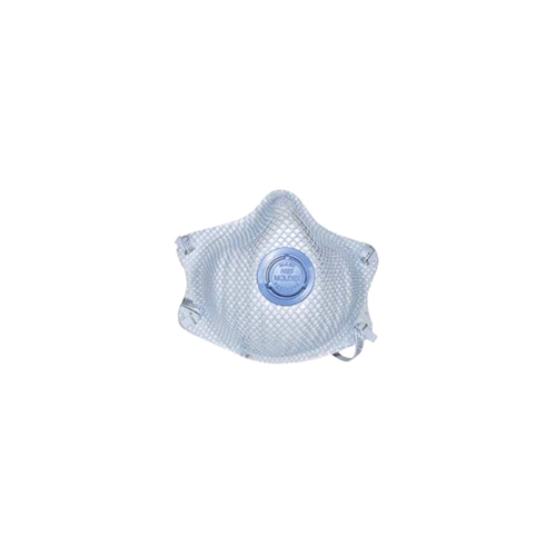 Moldex 2500N95 Dura-Mesh 2-Strap Particulate Respirator With Acid Gas Relief, Medium/Large