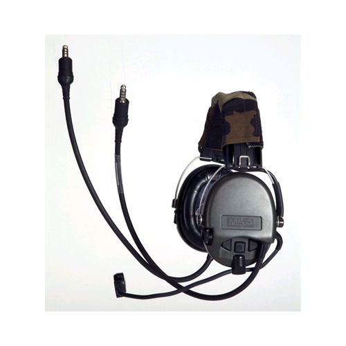 MSA 10053612 MICH High-Noise Communication Headset, Headband Model, Dual, Mic Left