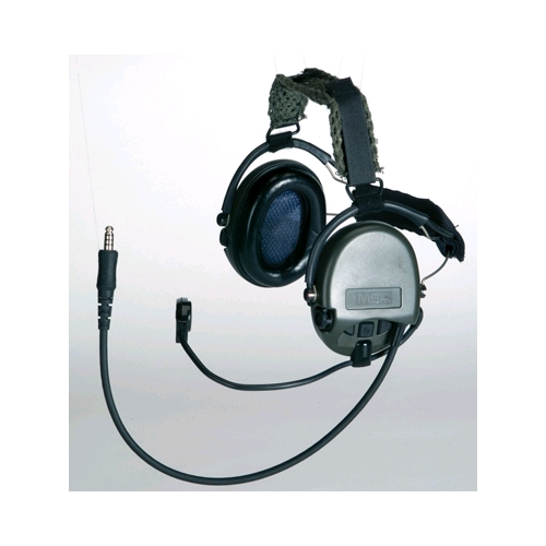 MSA 10085536 MICH High-Noise Communication Headset, Neckband Model, Dual, Mic Right