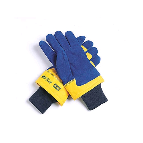 North Polar Gloves, Ladies, Blue Palm/Yellow Back - Per Pair